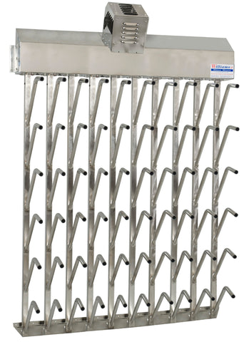 W30fg | Wall mount 30 pr top hung stainless steel boot dryer (60 boots)