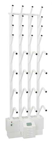 W8/8 | Wall mounted 8 pr boot & 8 pr glove dryer (16 boots & 16 gloves)