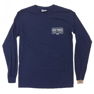 Goat Rodeo Long Sleeve Tee - Navy