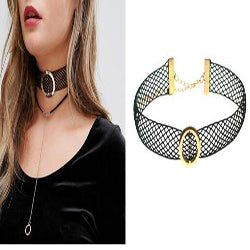 Fashion Necklace Sweet Girls Choker Necklace Stretchable