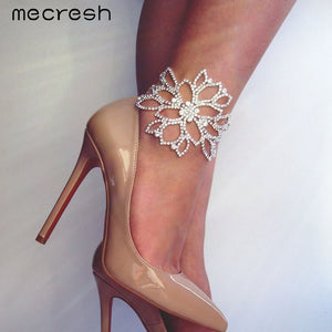 Silver Floral Bridal Ankle for Women