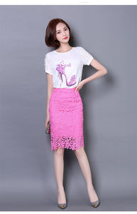 Lace Skirt Elegant High Waist Pencil Skirts
