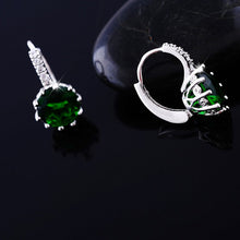 Crystal Earrings with Cubic Zirconia Stones