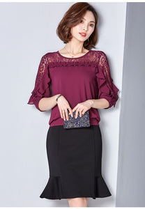 Chiffon Short Sleeve Female Tops
