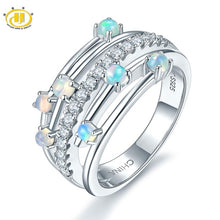 Stone Jewelry Natural Gemstone Opal Solid 925 Sterling Silver Rings For women