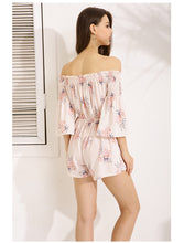 Gracegirl Playsuits Series Slash Neck Floral Print Jumpsuit For Women