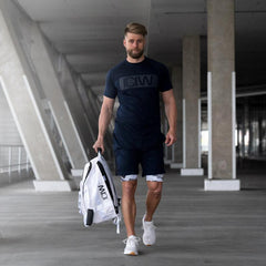 ICANWILL - BLOCK T-SHIRT NAVY