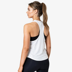 ICANIWILL – RACERBACK TANK TOP WHITE
