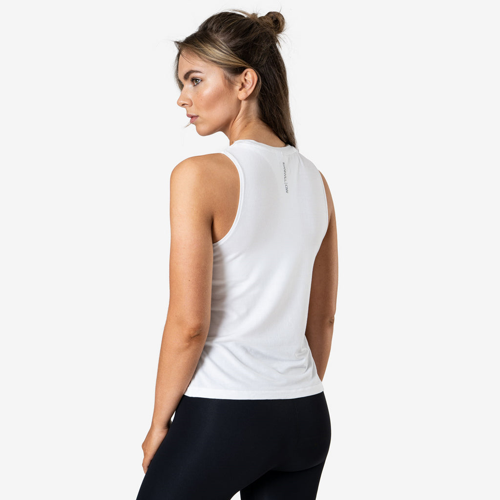 ICANIWILL – EVERYDAY LOOSE TANK TOP WHITE