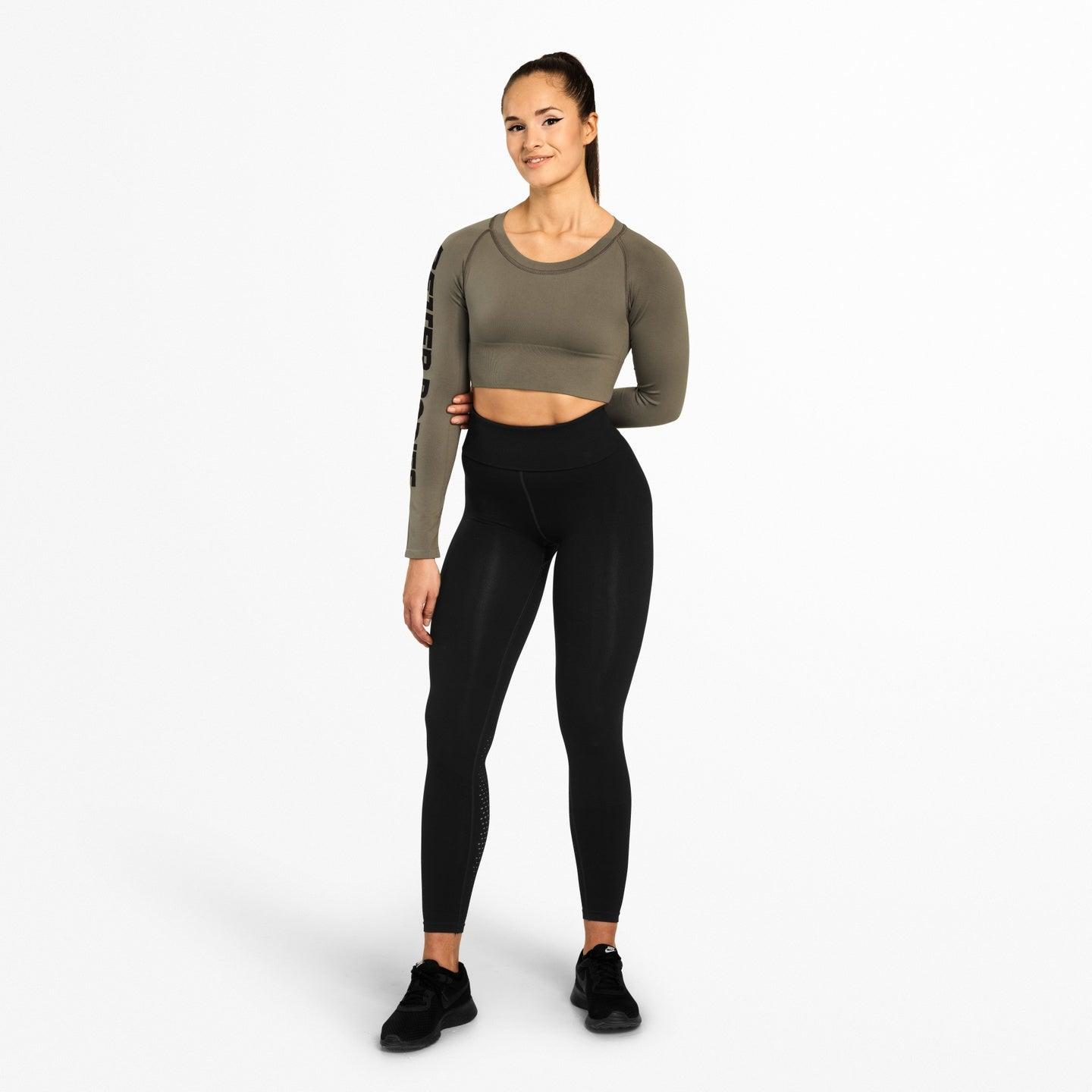 BETTER BODIES – BOWERY CROPPED LONG SLEEVE WASH GREEN