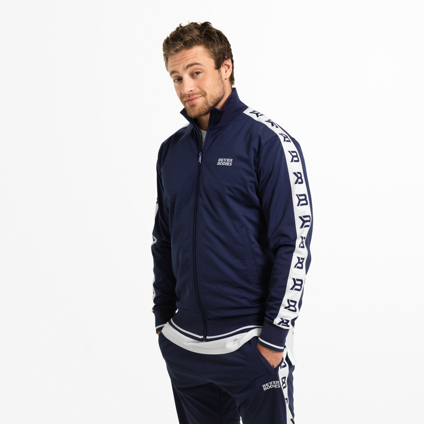 Image of   BETTER BODIES - BRONX TRACK JACKET NAVY