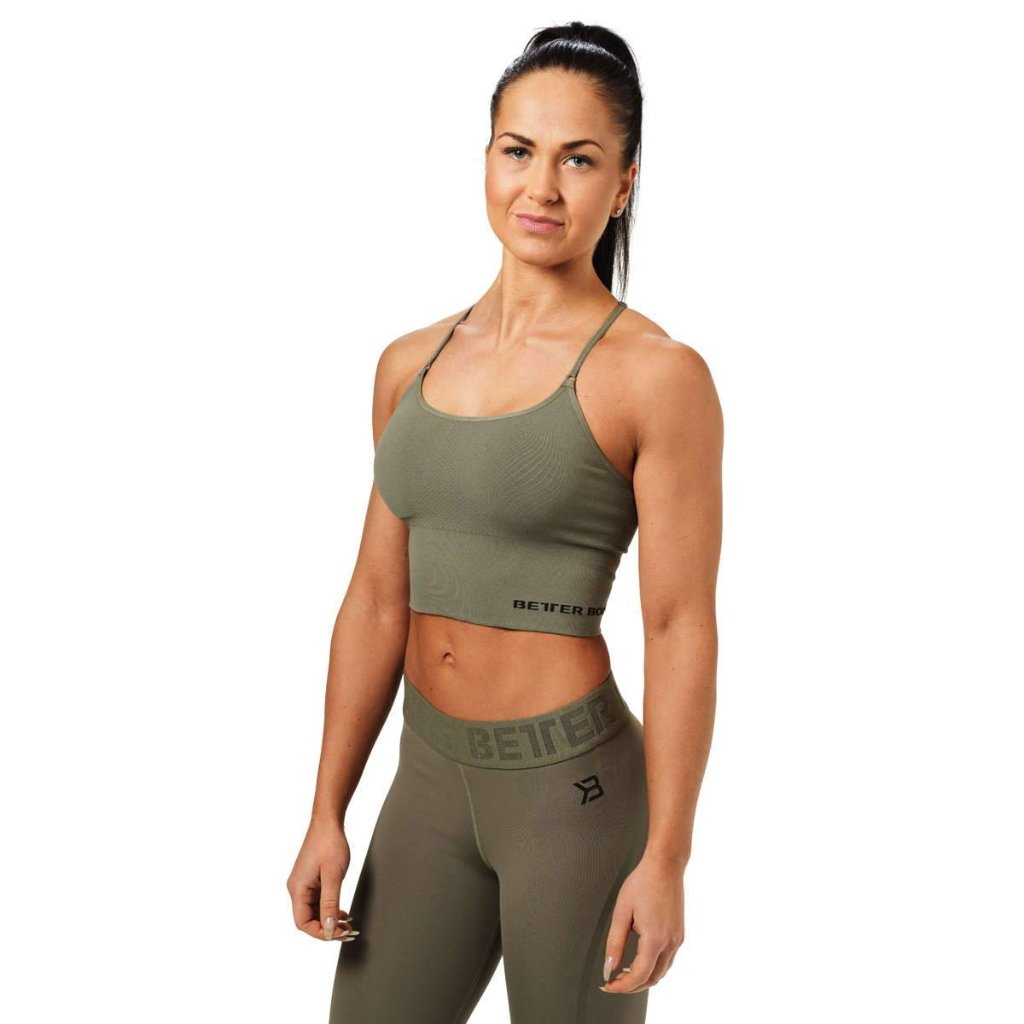 Image of   BETTER BODIES - ASTORIA SEAMLESS TOP GREEN