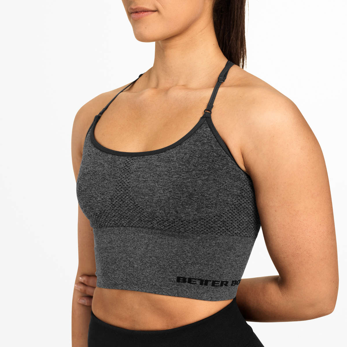 Image of   BETTER BODIES - ASTORIA SEAMLESS TOP GRAPHITE
