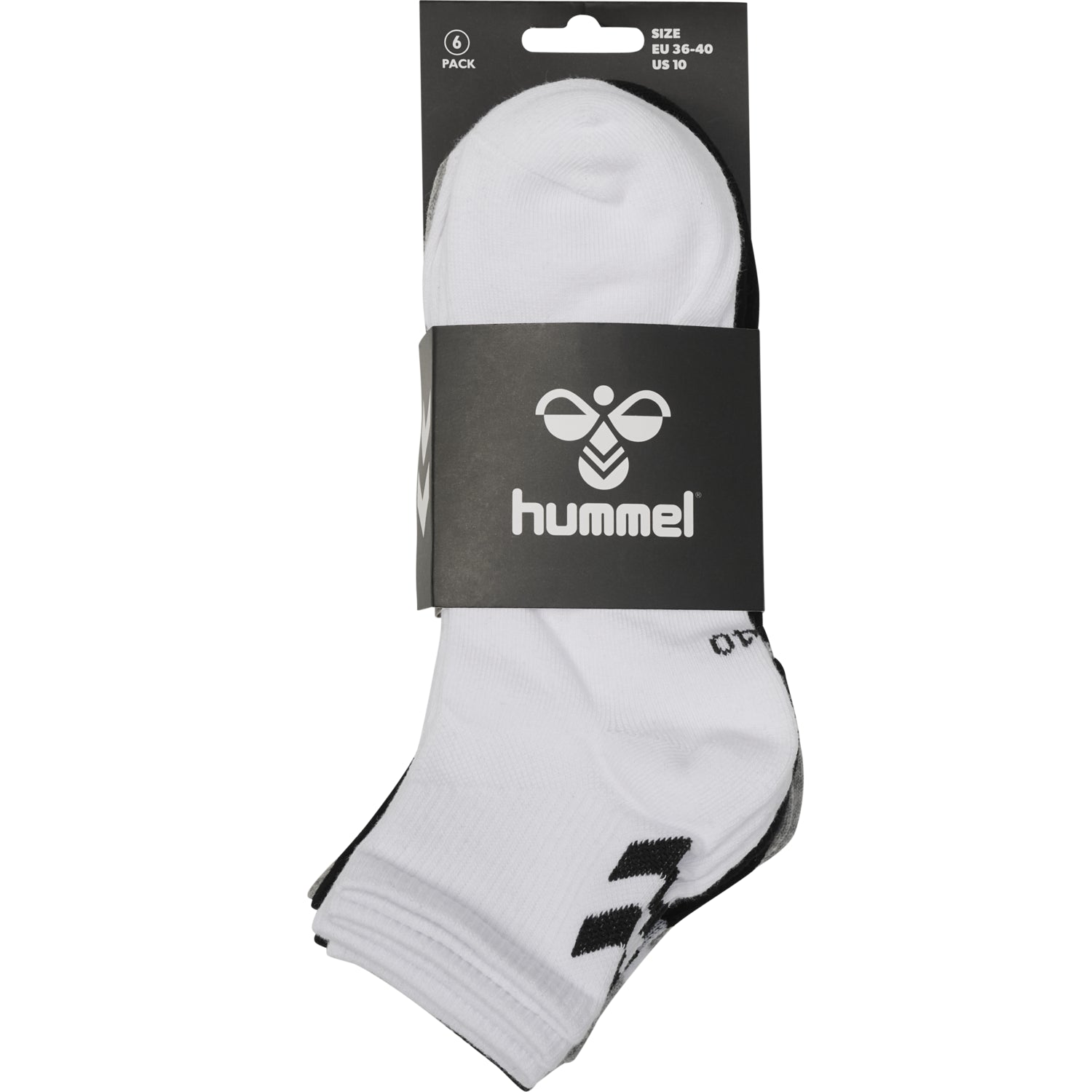 HUMMEL - CHEVRON 6-PACK MID CUT SOCKS MIX