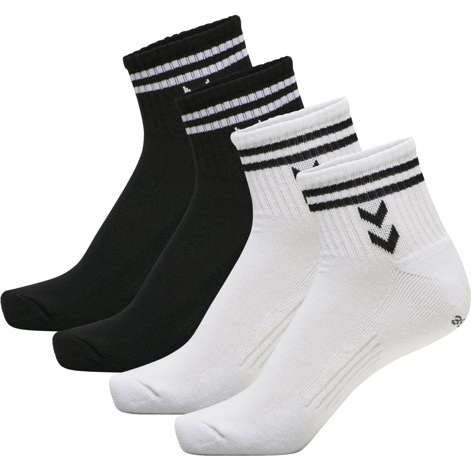 HUMMEL - STRIPE 4-PACK MID CUT SOCKS MIX