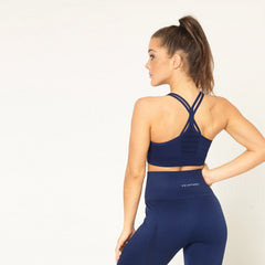 V3 APPAREL - CONTOUR SEAMLESS SPORTS BRA NAVY