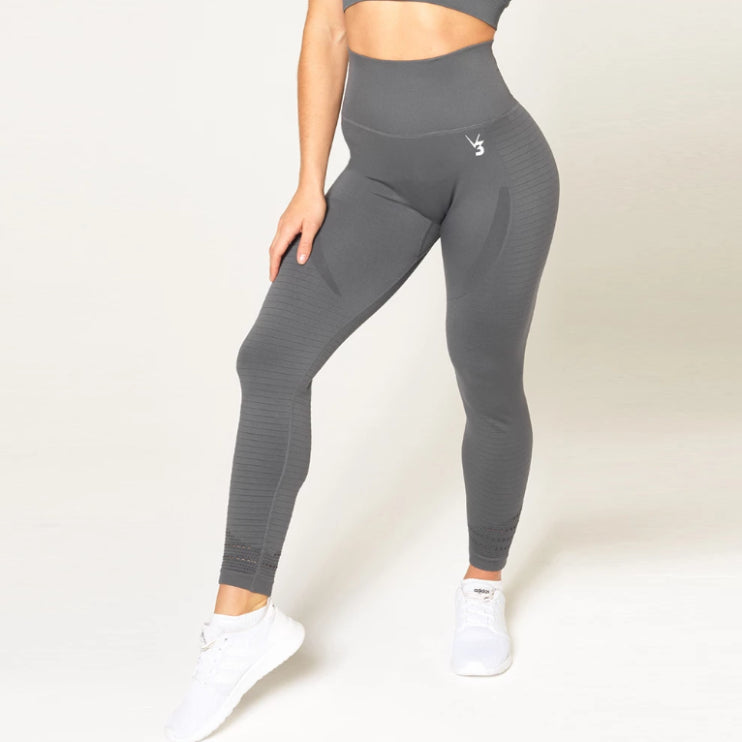 V3 APPAREL - CONTOUR SEAMLESS TIGHTS GREY