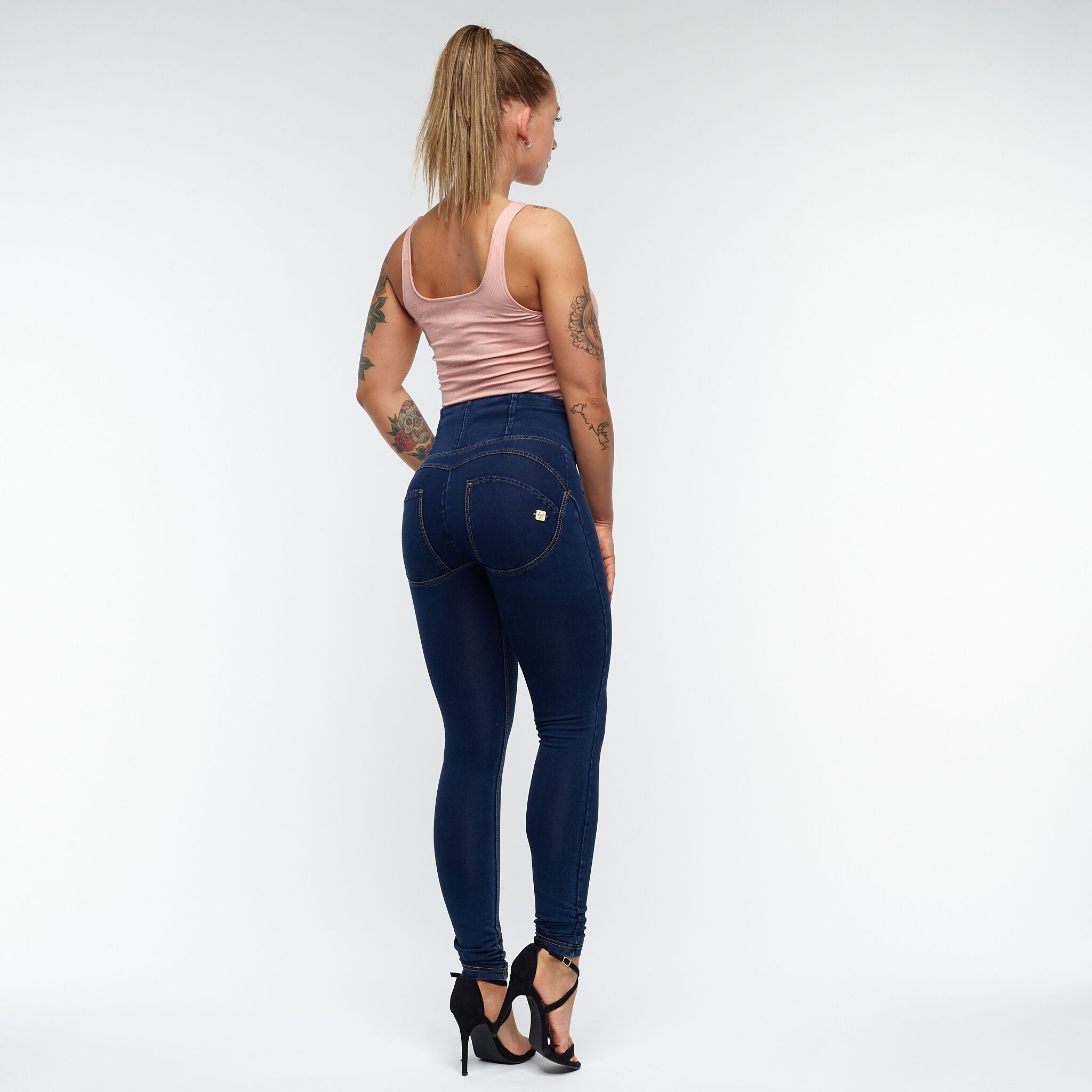FREDDY WR.UP® HIGH WAIST - DENIM BLÅ