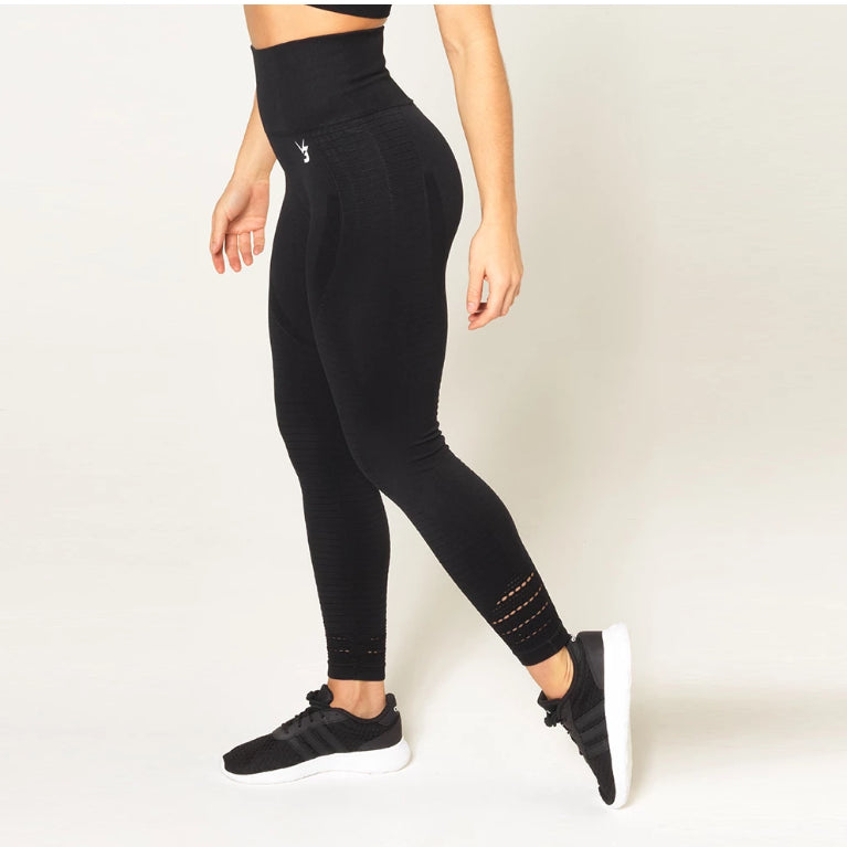 V3 APPAREL - CONTOUR SEAMLESS TIGHTS BLACK