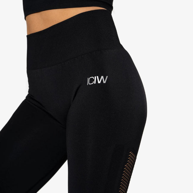 ICANIWILL - SEAMLESS HIGH WAIST BLACK