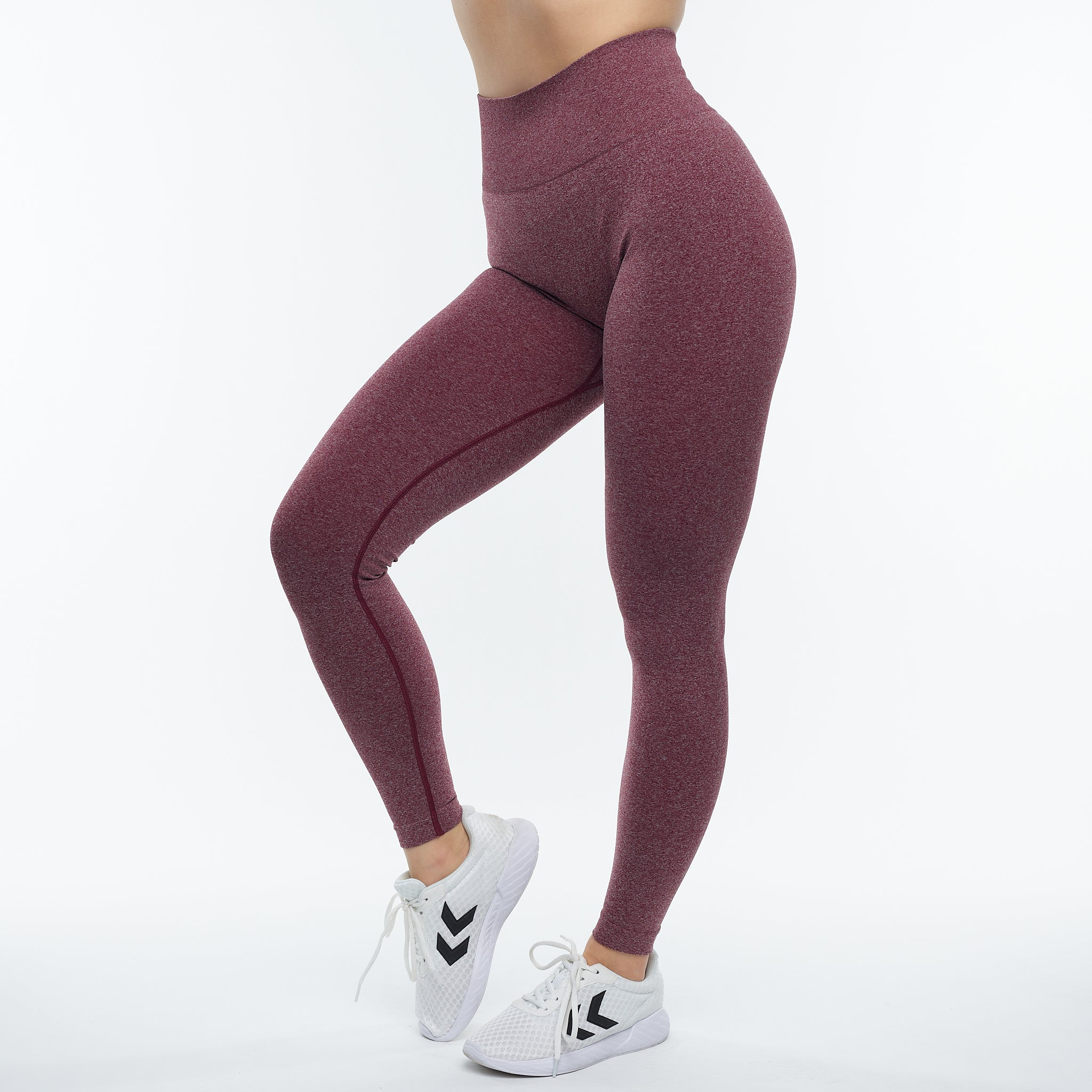 FAMME - FIT LEGGINGS BURGUNDY