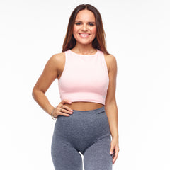 BETTER BODIES – RIB SEAMLESS TOP PALE PINK