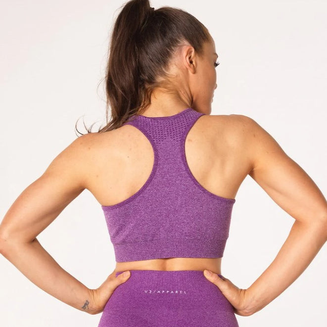 V3 APPAREL - UPLIFT SPORTS BRA PURPLE