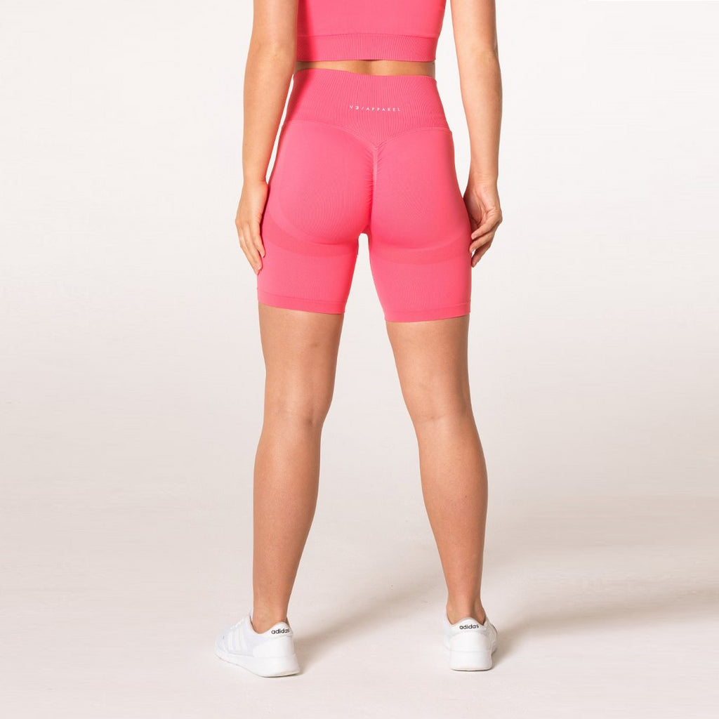V3 APPAREL - DEFINE SEAMLESS SHORTS CORAL