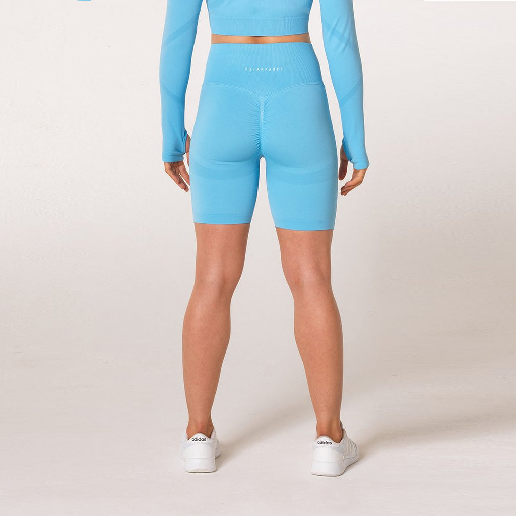 V3 APPAREL - DEFINE SEAMLESS SHORTS SKY BLUE