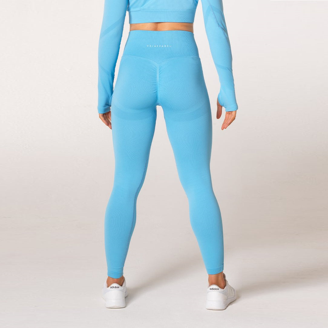 V3 APPAREL - DEFINE SEAMLESS TIGHTS SKY BLUE