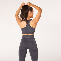 V3 APPAREL - UPLIFT SPORTS BRA CHARCOAL