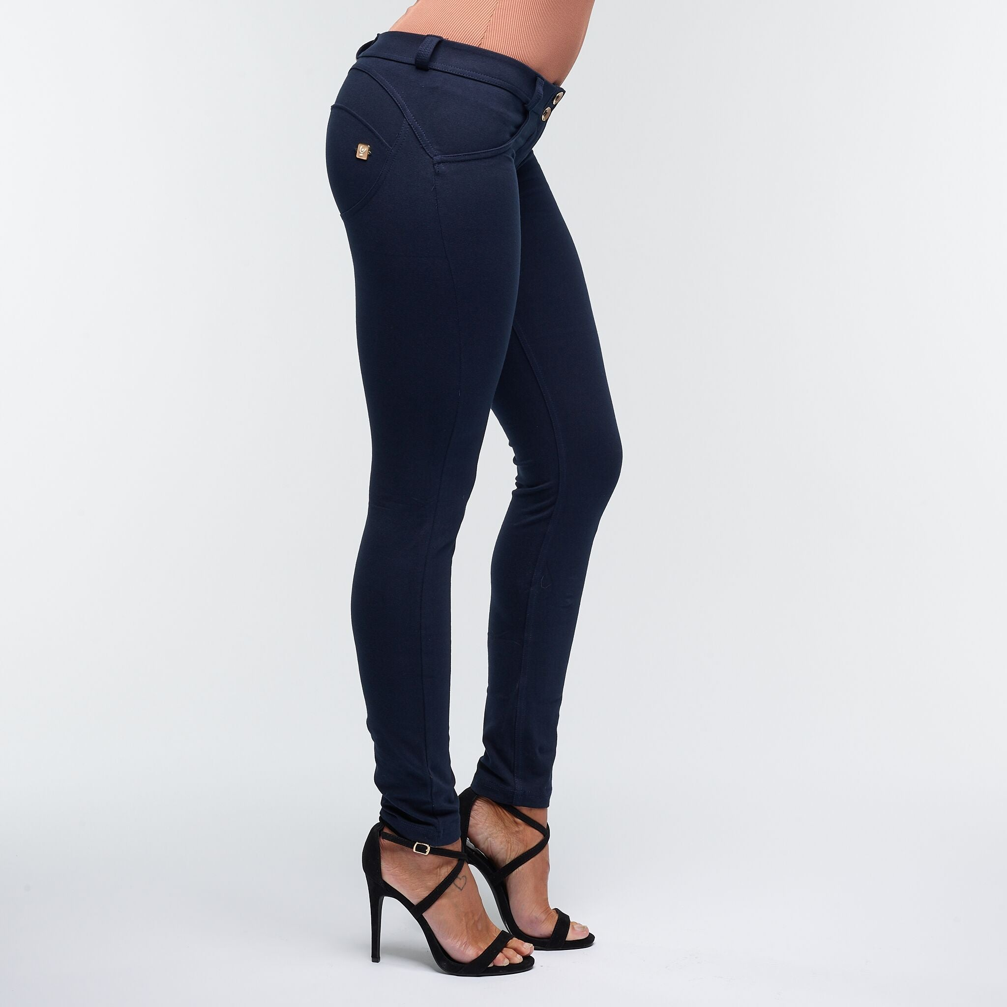 FREDDY WR.UP® LOW WAIST - NAVY BLÅ