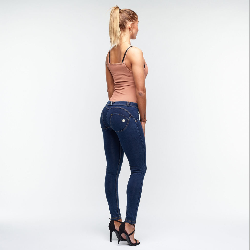 FREDDY WR.UP® LOW WAIST - DENIM BLÅ