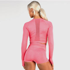 RYDERWEAR - SEAMLESS CROP CORAL