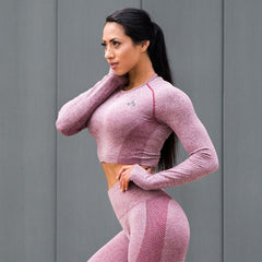 RYDERWEAR - SEAMLESS CROP BURGUNDY