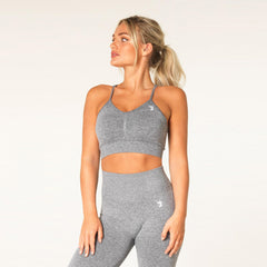 V3 APPAREL - DEFINE SEAMLESS SPORTS BRA GREY