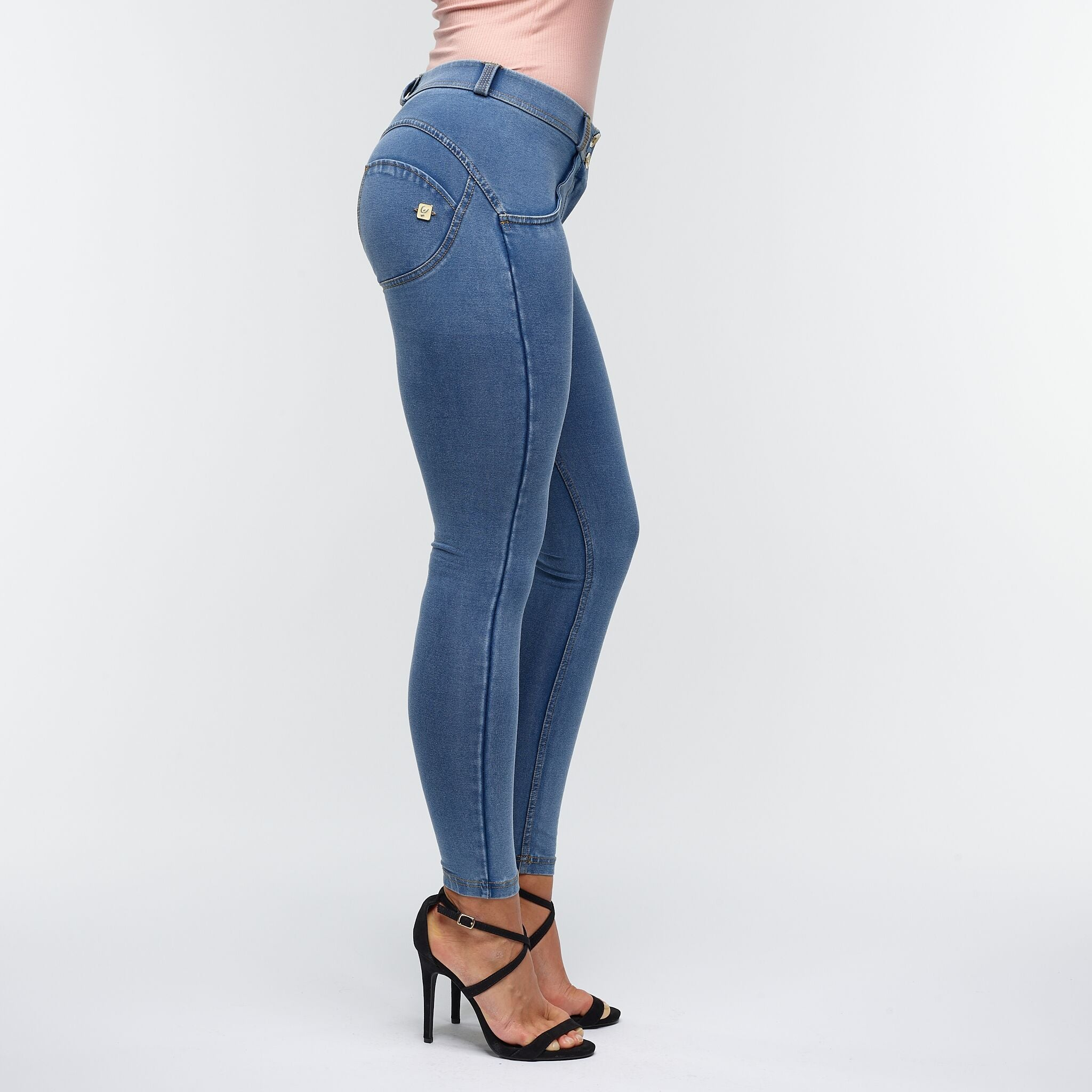 FREDDY WR.UP® 7/8 REGULAR WAIST - DENIM LYS