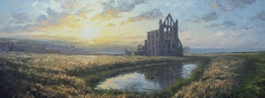 Whitby Abbey, August evening