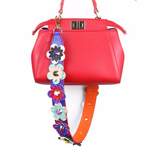 Blue Colorful Flowers Strap