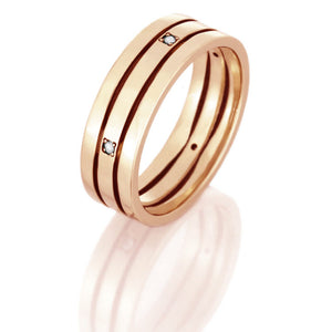 14k Rose Gold Wedding Band, Diamond Eternity Ring - DJ1002RG14k Rose Gold Wedding Band, Diamond Eternity Ring - DJ1002RG