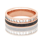 Dinosaur Bone Eternity Wedding Band, Diamond Ring in 14k Rose Gold - DJ1023RG