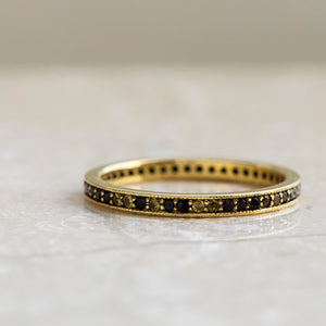 Gemma │ Yellow Gold Ring, Diamond and Sapphire Eternity Band - DJ1010YG