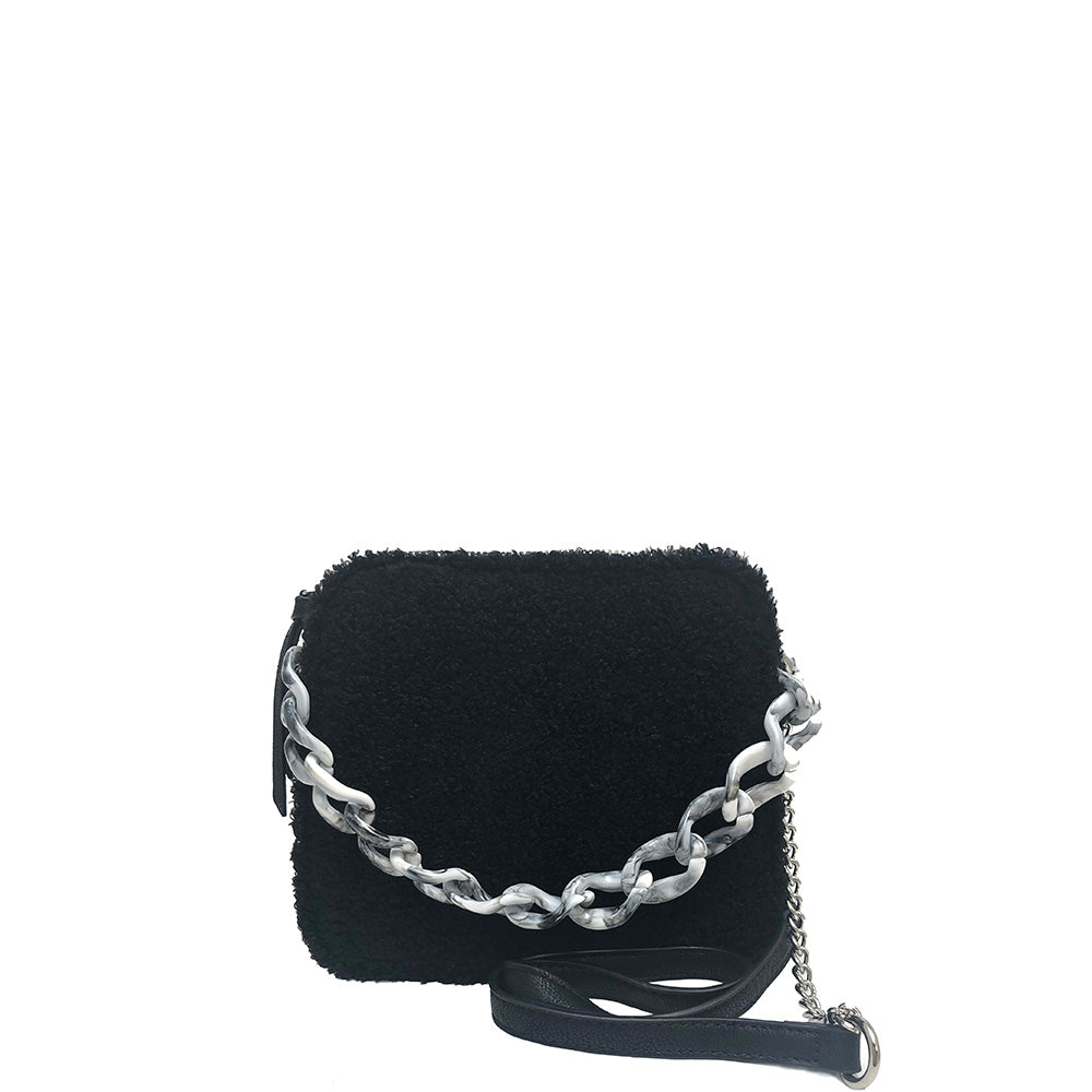 Triple Entry Crossbody with Enamel Chain Detail