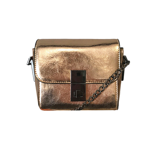 Metallic Rosegold Crossbody