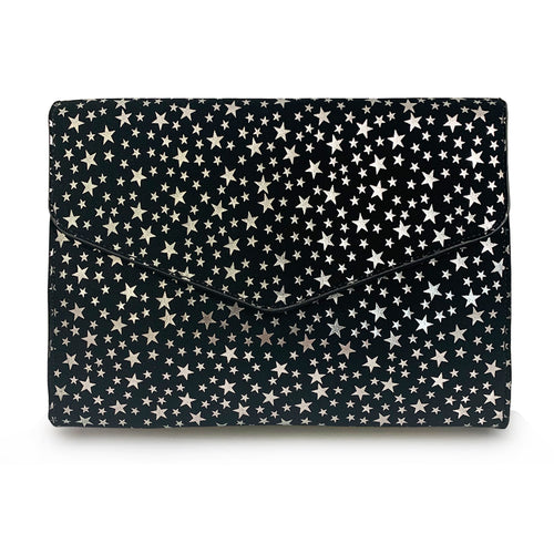 """Starlight"" Star Printed Envelope Clutch"