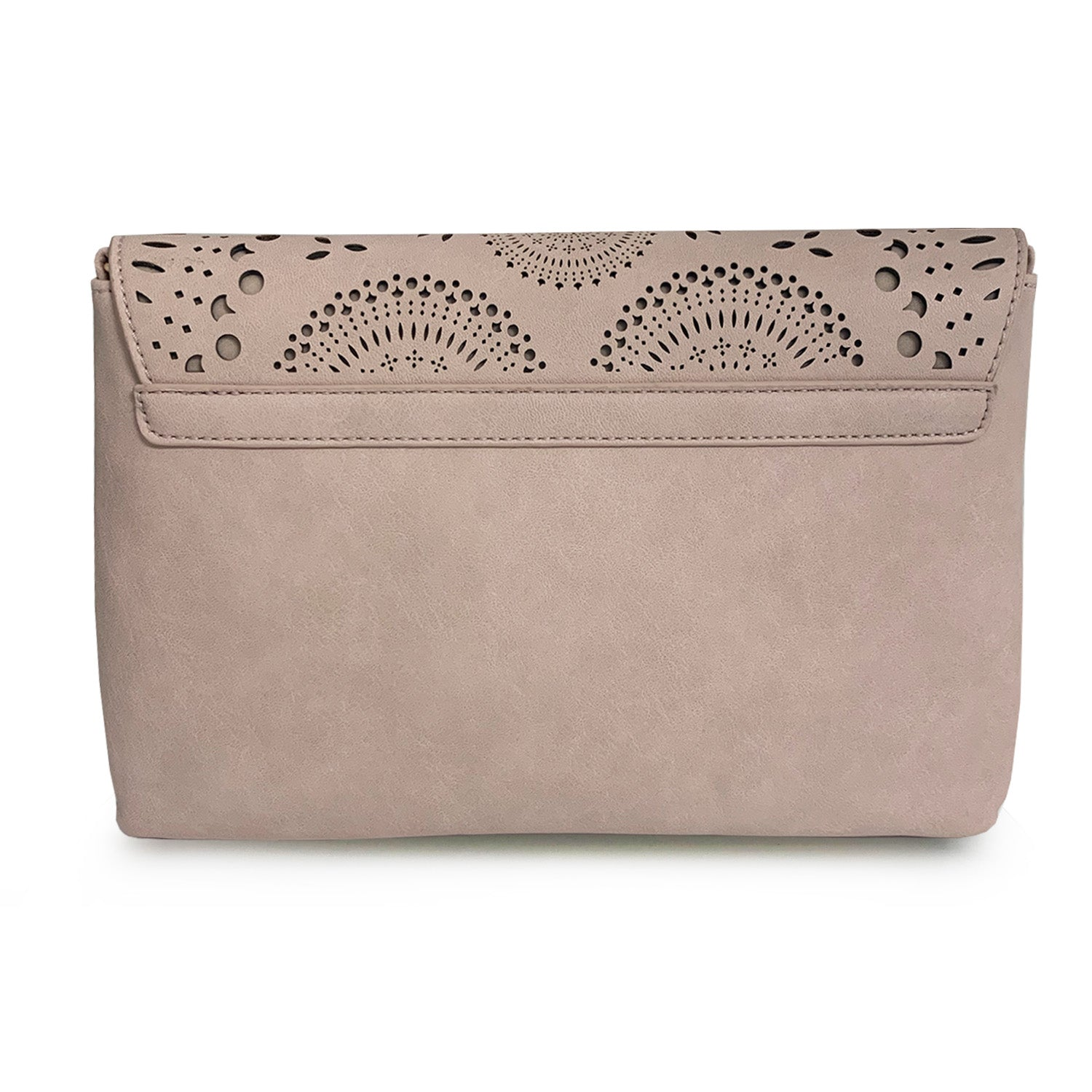Scalloped Flap Perforated Clutch