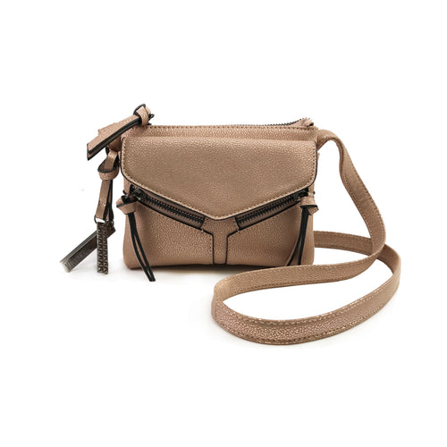 LEANNA MINI SHIMMER CROSSBODY ROSE GOLD