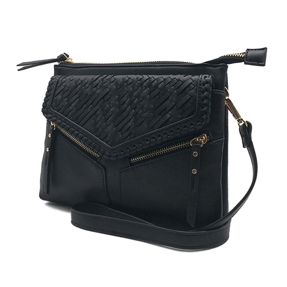 Leanna Woven Whipstitched Crossbody