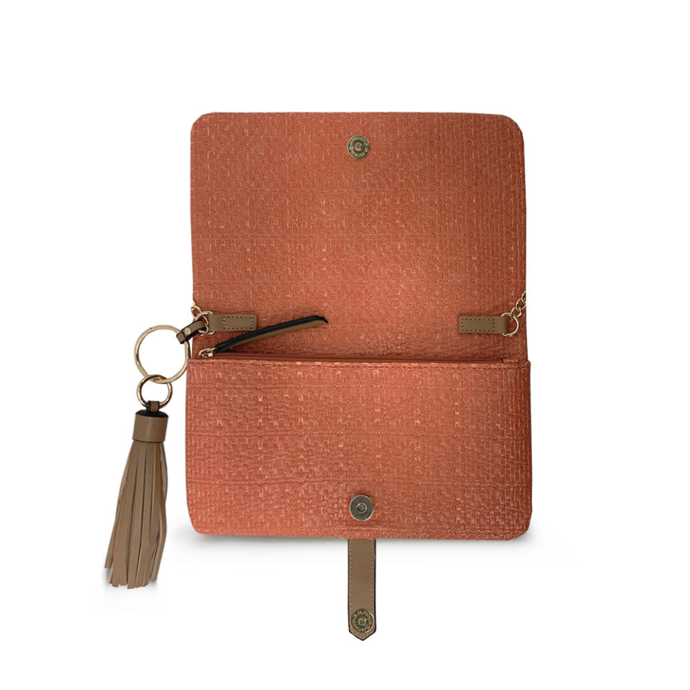 Spice Textured Foldover Wallet on a String