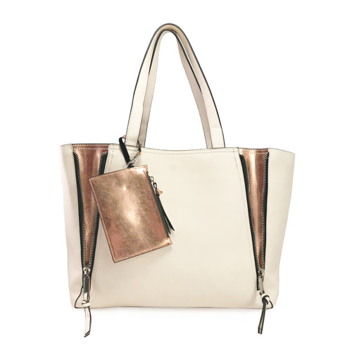 Cream Winter Tote